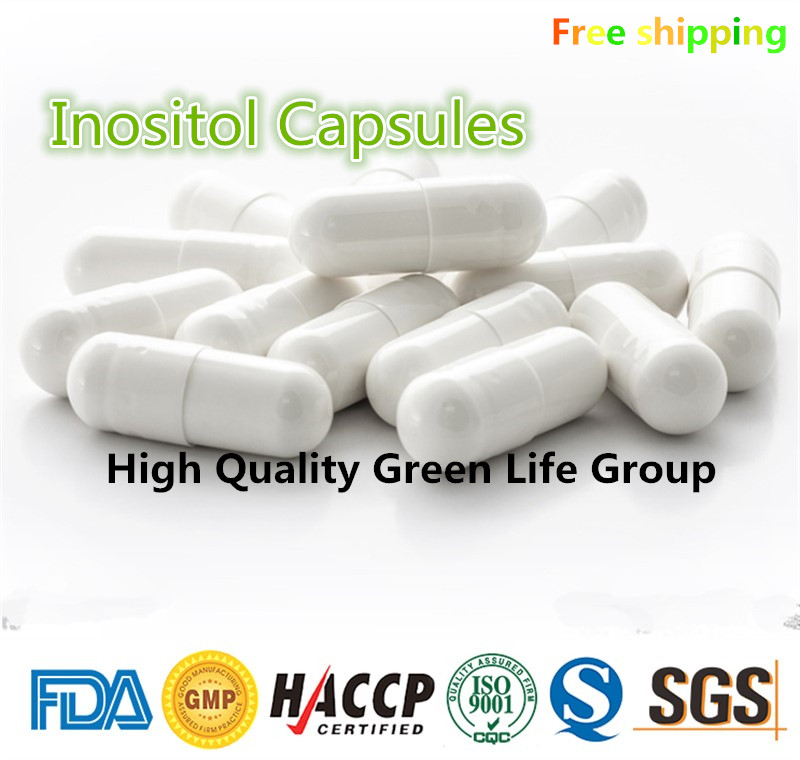 GMP Certified 200pcs 99% Inositol Capsules lower cholesterol Prevent hair loss Prevention of eczema Free shipping