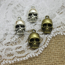 Buy PULCHRITUDE 20pcs 12*20mm Antique Metal Zinc Alloy Trendy 3D Skull Charms Jewelry Charms Pendant T0357 for $4.05 in AliExpress store