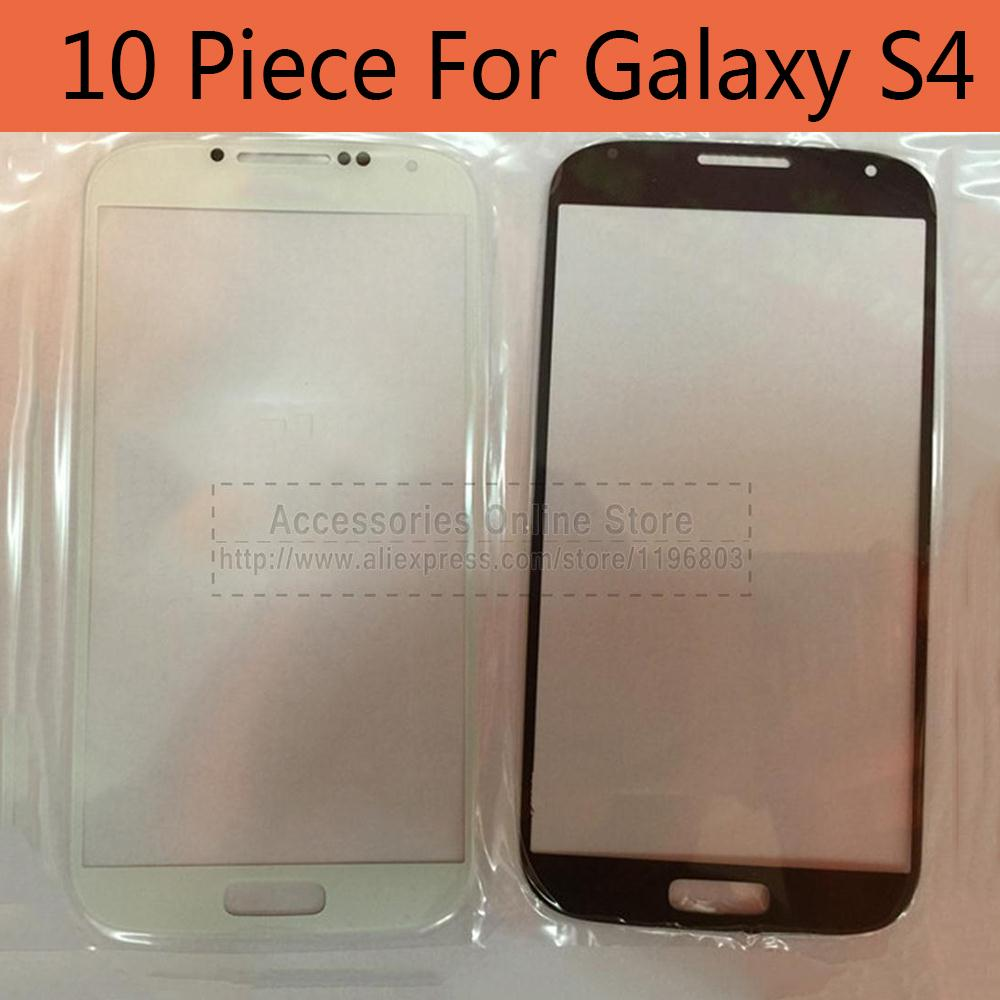 10 piee Front Touch Screen Glass Lens For Samsung Galaxy S4 I9500 Wholesale(China (Mainland))