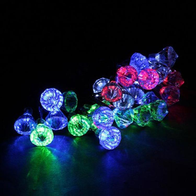 20 Leds Diamond Designed Hot Sale 2015 Celebration Solar Powered Led Festival Atmosphere Flash Lights(China (Mainland))
