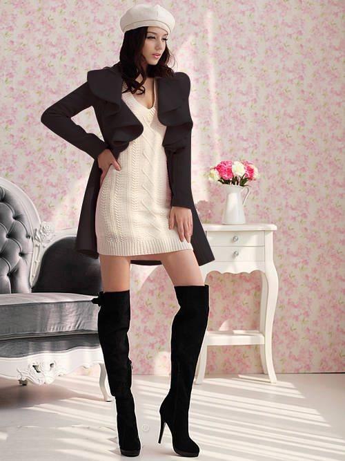 Bayan Kaban Real Abrigos Mujer Wool Coat Aliexpress Europe 2016 Fall And Winter Clothes New Flouncing Jacket Sections Overcoats