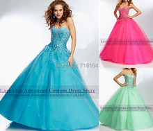 Blue red mint green long quinceanera dress ball gown sweet 16 princess dresses vestidos de 15
