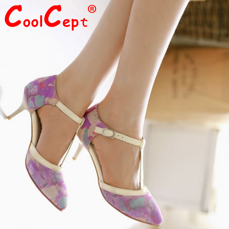 women stiletto ankle strap print square high heel sandals sexy fashion sweet lady heeled footwear heels shoes size 33-43 P18090<br><br>Aliexpress