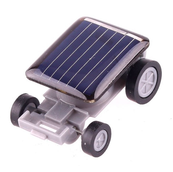 Educational Gadget Children Gift Mini Solar Power Amazing Toy Car For Kids Solar Toy Cars Black(Hong Kong)