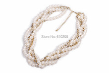 Wholesales Christmas gift Chunky Jewlery Pearl Necklaces