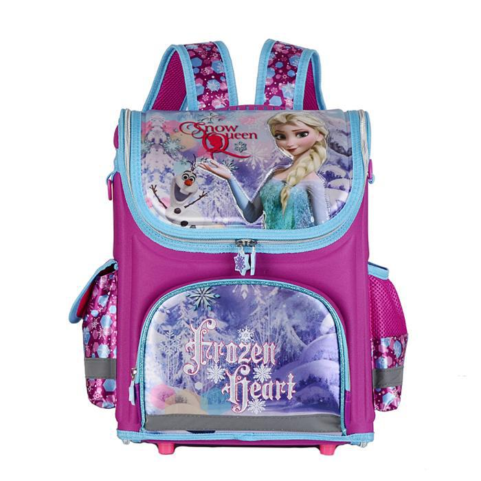Anna Elsa Princess Lovely Cartoon School Bags for Boys Orthopedic Backpack Schoolbags for Girls Mochilas Kids Knapsack Satchel(China (Mainland))