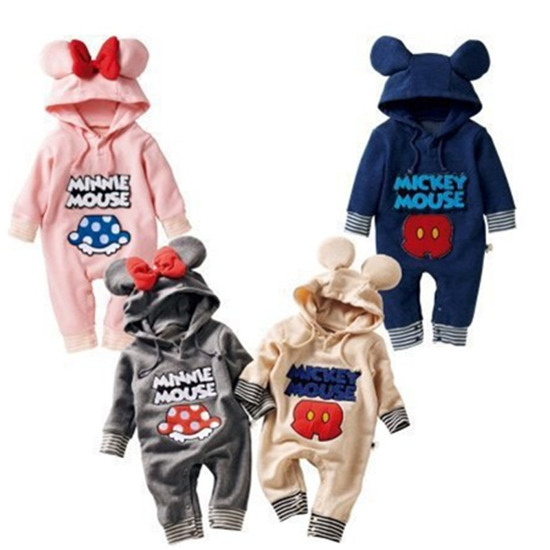 Newborn Winter Baby Rompers Cute Baby Girls Boys Jumpsuit 2015 Brand Fleece Autumn Clothing Romper Body Infant Todder Clothes(China (Mainland))