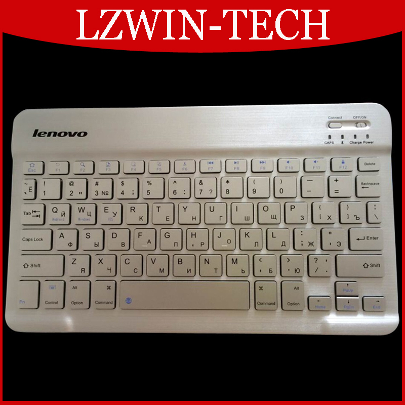 Ultra Slim Multimedia Aluminum General Lenovo Russian Language Bluetooth Keyboard For IOS Android PC Computer Laptop Tablet(China (Mainland))