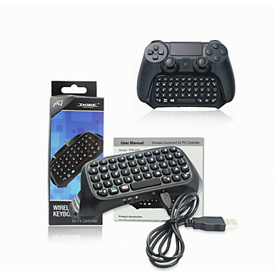 Free Shipping Black Mini Bluetooth wireless keyboard Keypad for PlayStation 4 PS4 Controller Wholesale(China (Mainland))