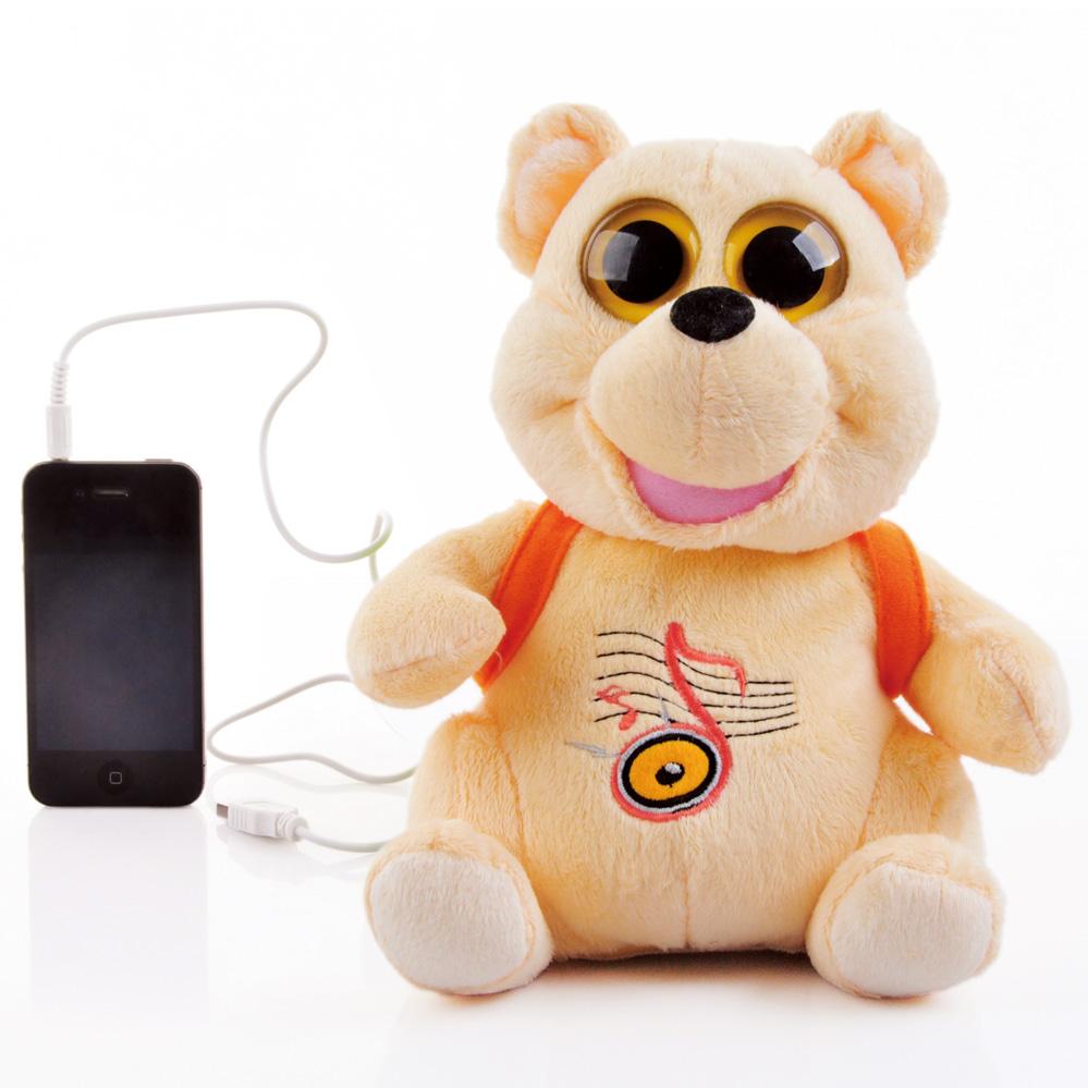 free shipping Mini audio bobble head animal small lion frog speaker child gift(China (Mainland))