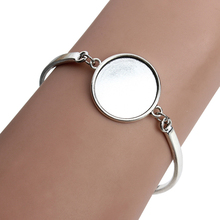 Buy 5pcs/lot Silver Color Round Blank Cabochon Base Setting Bezel Tray Bangle Fit 20mm DIY Cabochons Jewelry Making Findings F3765 for $3.58 in AliExpress store