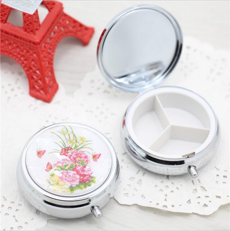 Customize logo Folding pill case drug Medicine Organizer Portable Pill Box Makeup Storage Container pastillero pildoras estuche(China (Mainland))