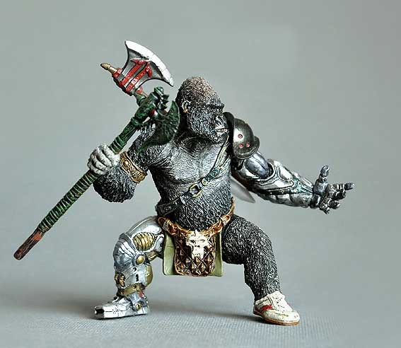 Action Figures Half Orc gorilla Orcs kids hobby toy mutant Warrior Fantasy model 10cm so cool gift(China (Mainland))