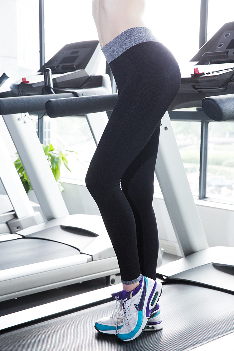 New Move Brand Sex High Waist Stretched Sports Pants Gym Clothes Spandex Running Tights Women Sports Leggings Fitness Yoga Pants