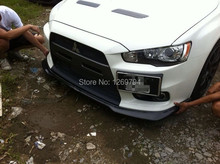 Carbon Fiber  Front Bumper  Lip  Fit For  Mitsubishi Lancer Evolution EVO 10 X Of The RT Style(China (Mainland))