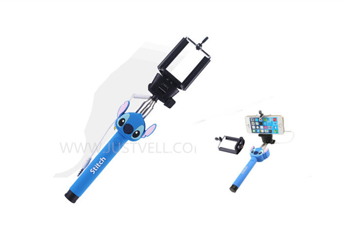 stich cartoon character monopod extendable character selfie super mini tripod selfie stick. Black Bedroom Furniture Sets. Home Design Ideas
