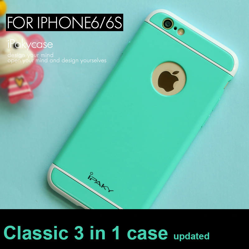 2016 100% original ipaky brand 3 IN 1 design classic case for iphone 6 for iphone 6s luxury cover china coated processing(China (Mainland))