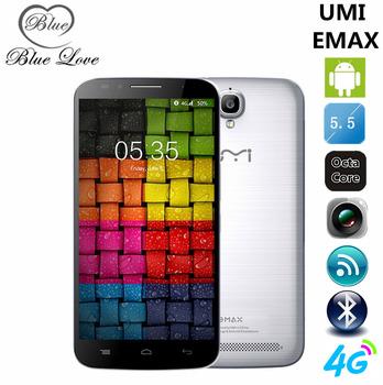 Оригинал UMI EMAX 5.5 дюймов FHD MTK6752 Octa ядро 4 г LTE мобильный телефон 2 ГБ RAM 16 ГБ ROM андроид 5.0 13MP 3780 мАч сотовый телефон OTG