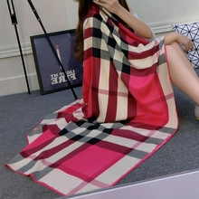 130*130 2016 Big Size plaid scarf foulard femme women luxury brand Pashmina warm Cloak Poncho Duplex Cape Shawls and Scarves
