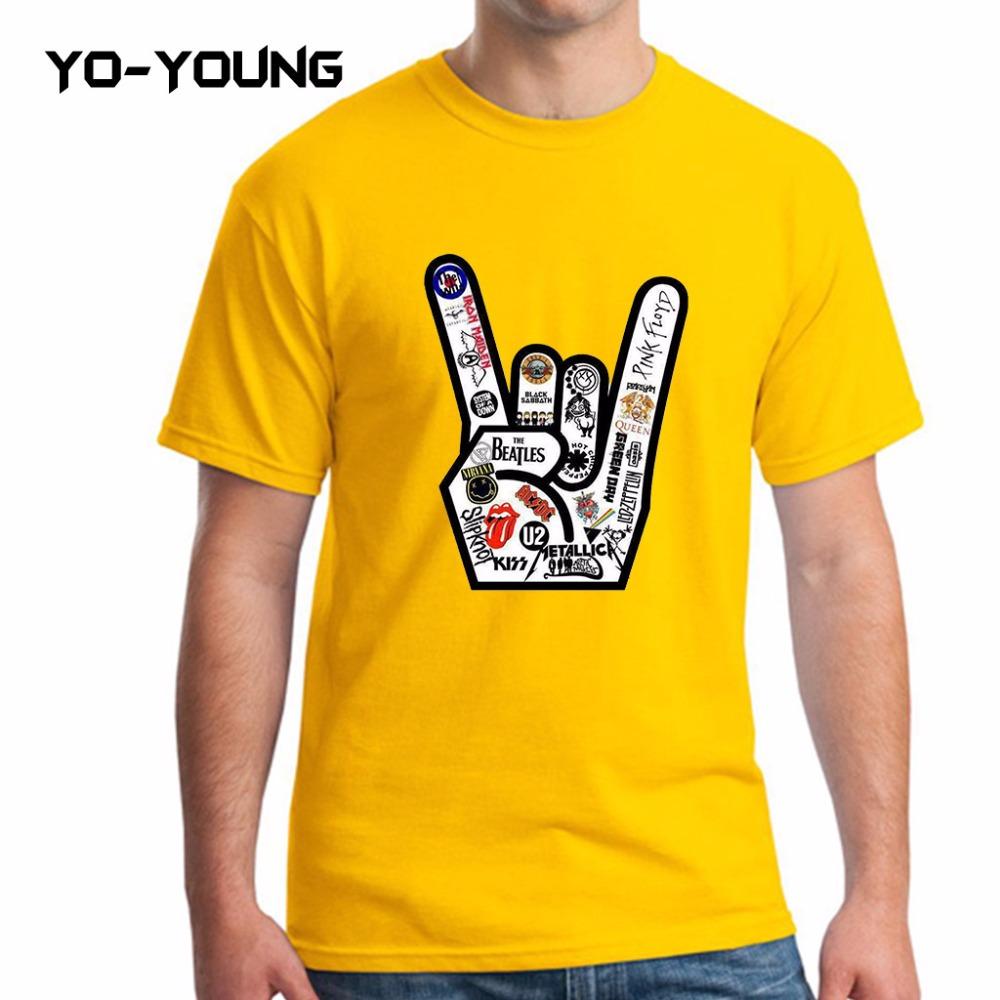 Yo-Young Men T Shirts Summer Famous Rock Band Printed 100% 180g Combed Cotton Fashion Geek T-shirts Brand Quality Customized(China (Mainland))