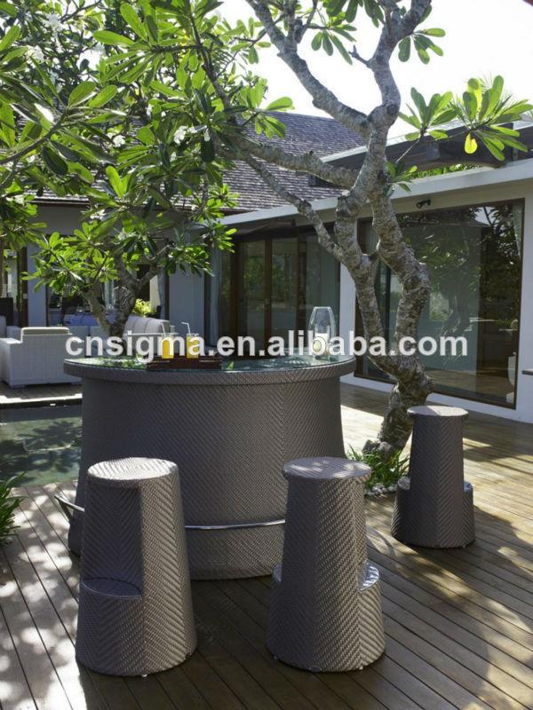 Compra barato muebles de rat n online al por mayor de for Diseno de muebles de jardin al aire libre