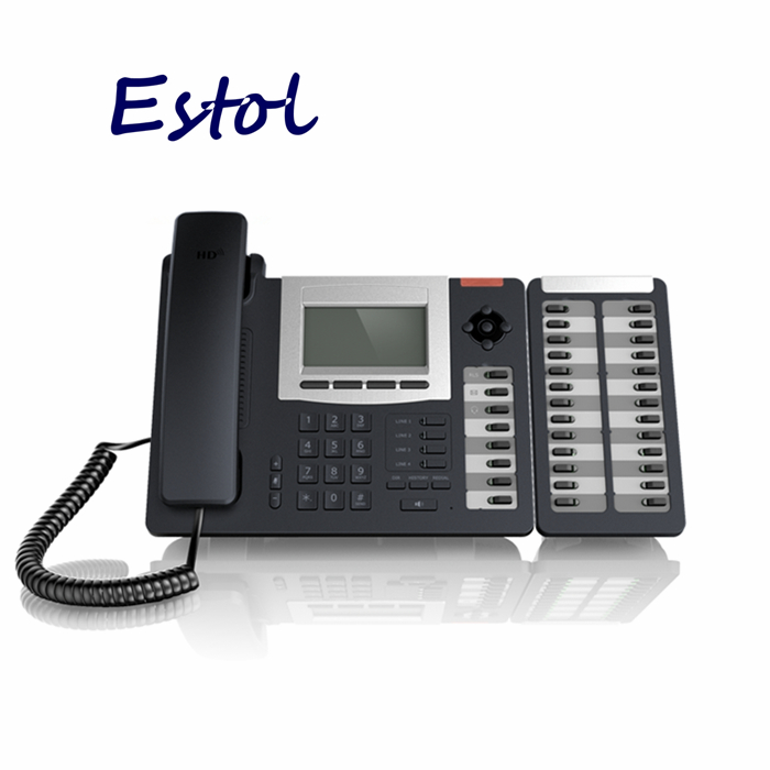 Hot sale HD Voice VoIP Phone,4 SIP lines+IAX2,8 BLF keys.PoE,Asterisk elastix IP Phone. Expansion console module extension(China (Mainland))