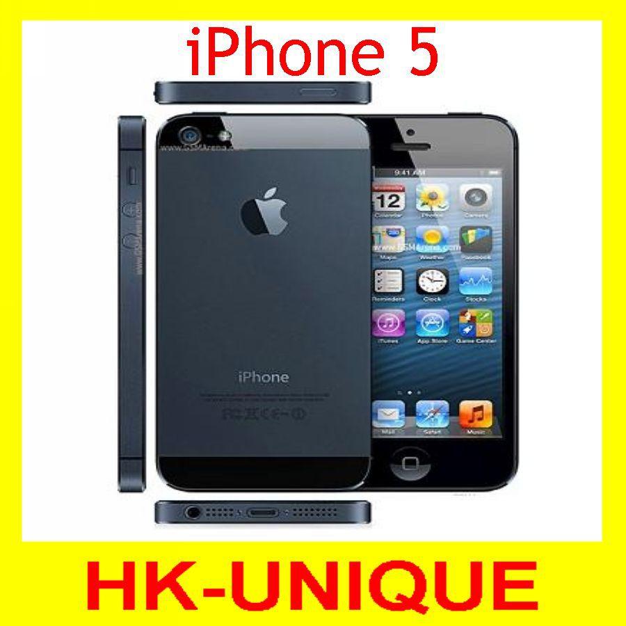 Оригинального Apple iPhone 5 смартфон iOS ос двухъядерный 1 г оперативной памяти 16 ГБ 32 ГБ 64 ГБ ROM 4.0 дюймов 8MP камера wi-fi GPS 3 г сотовый телефон
