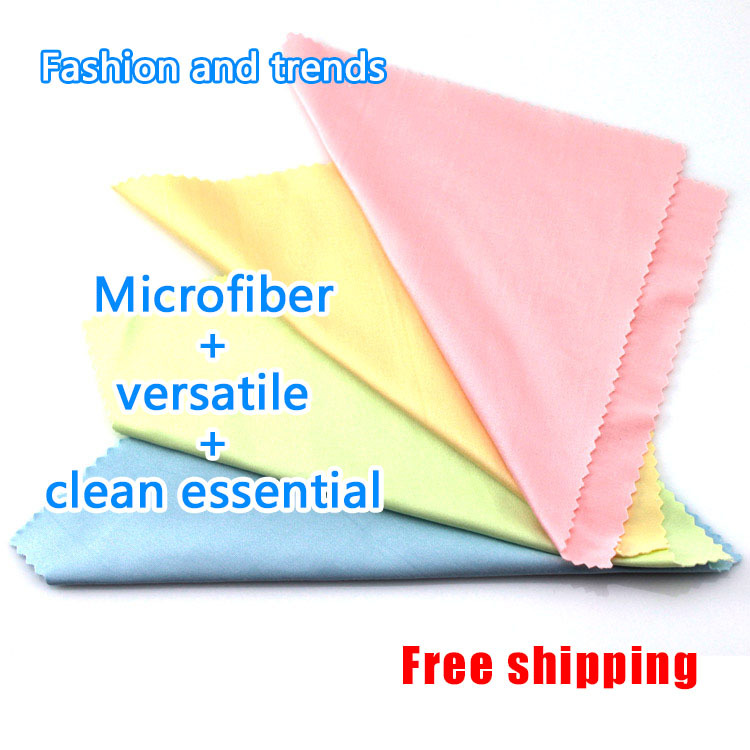 E4U free shipping Microfiber cleaning cloth Mobile phones computers glasses camera lenses Digital Equipment Cleaning(China (Mainland))