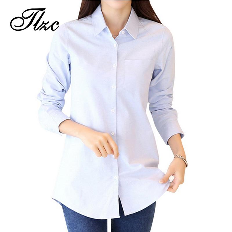 TLZC Hot Sale Lady Long Length Shirts White Color Women Cotton Blouse Size S-3XL All Match Plush Lining Women Winter Shirts(China (Mainland))