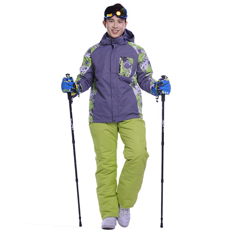 2017 new men women winter waterproof skiing jackets 3 in 1. Black Bedroom Furniture Sets. Home Design Ideas