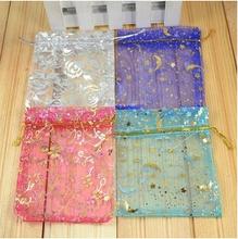 20 pcs/lote nouvelle mode cordon Organza sacs bijoux sacs d'emballage cadeau de mariage sacs de sucre de 10 * 12 cm