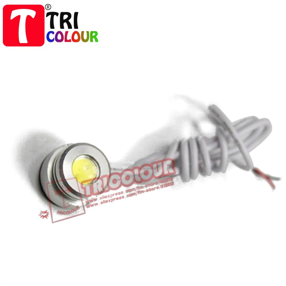 HK POST FREE!!! + 3W High Power Ultra Bright Eagle Eye with Larger Lens 3M Tail light Backup Rear Lamp White 50pcs/lot #D09065<br><br>Aliexpress