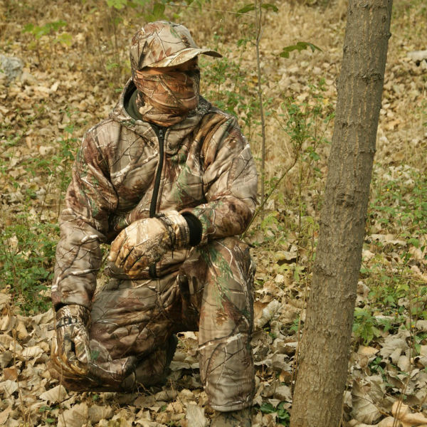 High quality winter outdoor warm fleece clothing realtree for Realtree camo flannel shirt
