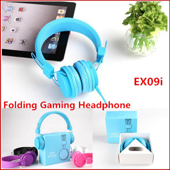 Newest High Quality 3.5mm Folding Gaming Headphones Earphones Stereo Music Headset with Microphone For Mp3/iPhone/iPad/CellPhone