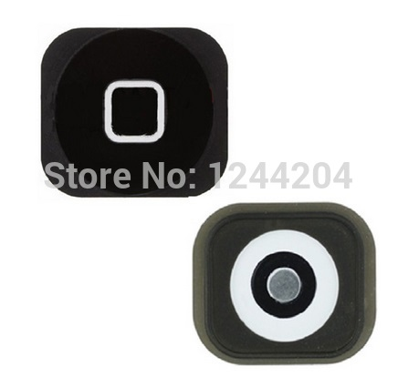 High Quality 1 piece New Home Button Key For iPhone 5 5G with spacer sticker Black White Return Button Key Repair Parts