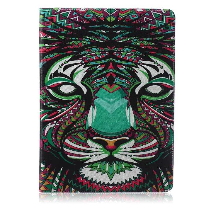 "Green hair lionpattern Leather Flip Case for Apple iPad air1 2 iPad mini 1 2 3 iPad 2 3 4 pro 12.9"" 9.7"" Case With Card Holder(China (Mainland))"