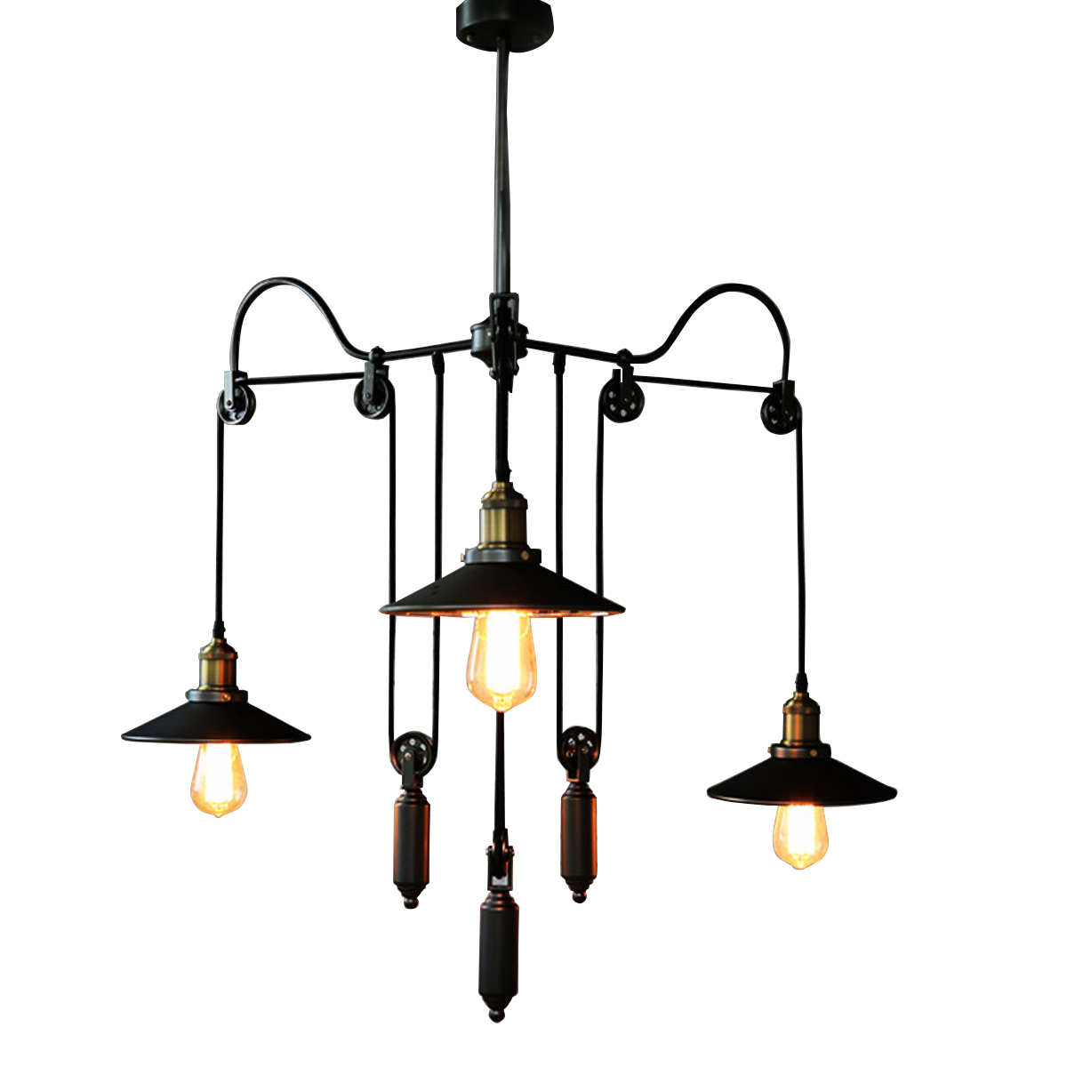 Modern Pendant Lamp Nordic Village Industrial style Pendant Lights Adjustable Pendant Light Telescopic Personality Cafe Lifting(China (Mainland))