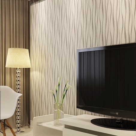 Buy Pvc Embossed Modern Wallpaper 3d