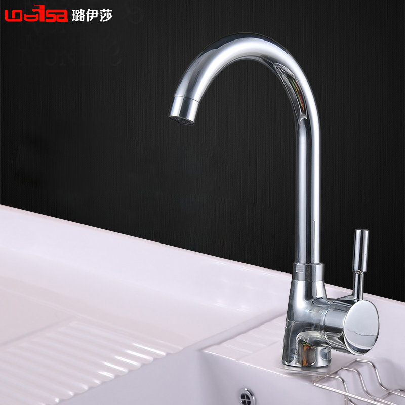 Free shipping brass chrome luxury kitchen faucet deck Designer kitchen faucets