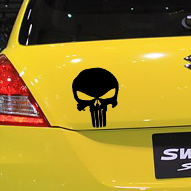 Punisher Skull Vinyl Decal For Car Window Sticker Marvel Comics
