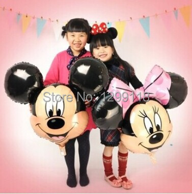 10pcs /lot Cartoon Mickey Minnie Mouse Helium Foil Balloons Red Minnie Birthday Party Decorations Inflatable Balloons Globos(China (Mainland))