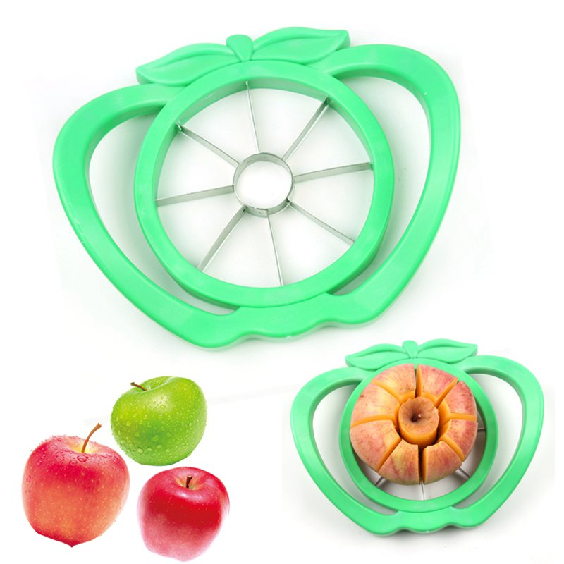 Apple Cutter Knife Corers ABS Stainless Steel Fruit Slicer Kitchen Gadgets Multifunctional Cooking Vegetable Tools Chopper(China (Mainland))