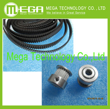 Free Shipping 2Pcs 20-GT2-6 GT2 Pulley And 2m GT2-6mm Open GT2 Belt for 3D printer(4xM3 setscrews and 1xAllen Key)