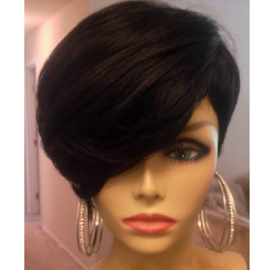 short human hair wigs for black women short hairstyle 2013