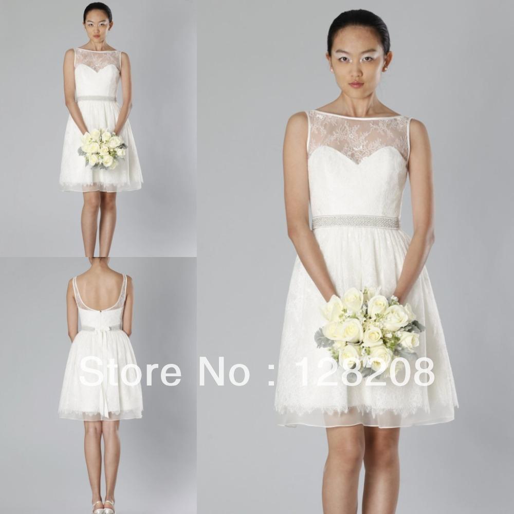 Short Open Back Wedding Dresses | Elegant Weddings