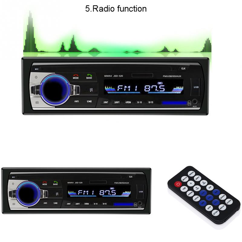 Portable Audio Play Device Multimedia Player Host Auto Car Stereo Audio In-Dash FM Aux Input Receiver SD USB MP3 Radio Player(China (Mainland))