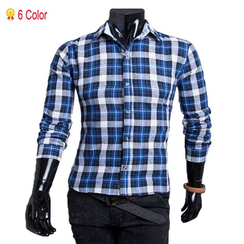 2015 New Summer Style Men Shirt Fashion Brand For Plaid