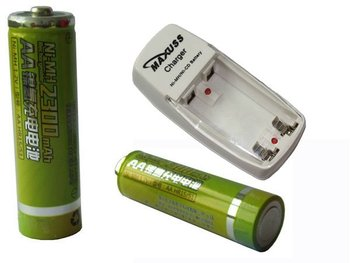 8 x AA Ni-MH NiMH 2300mAh Rechargeable Battery Recharge Batteries For Flashlight,MP3 Player,Toy,Radio,Remo+Charger