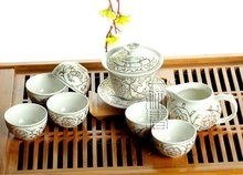 8pcs Beautiful Tea Set, Porrtery Teaset,A3TJ01, Free Shipping