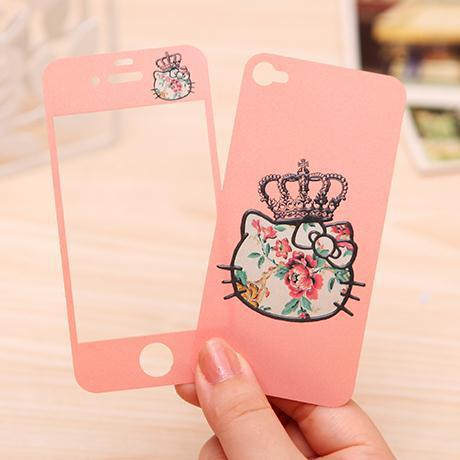 Cartoon Giraffe Bear Cat Fish Love Screen Protective Guard Film Skin For iPhone5S iPhone 5 5s Front And Back Protector Sticker